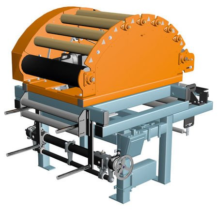 Pivoting frame system DRB73 with roller basket